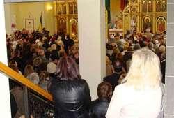 Msza w cerkwi greckokatolickiej w Olsztynie