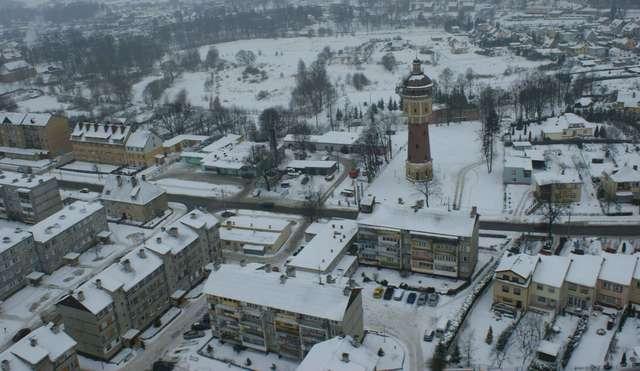 Zobacz zimową Gołdap z lotu ptaka - full image