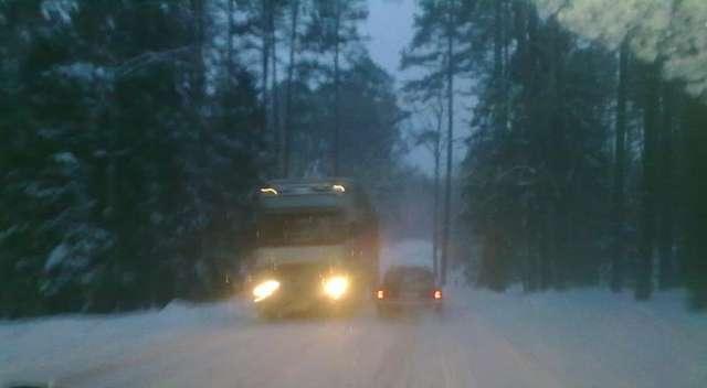 Pisz - Wejsuny: zimowa droga środkiem Puszczy Piskiej - full image