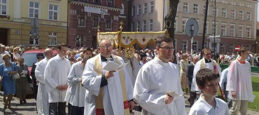 Takiej procesji w tym roku w Bartoszycach nie będzie. Zdjęcie archiwalne.