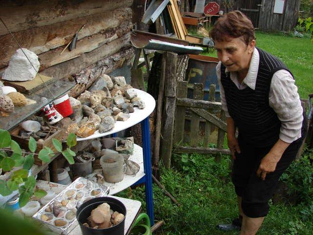 W Jemiołowie Marianna Bartkiewicz zgromadziła oryginalny zbiór kamieni z odciskami prehistorycznych zwierząt - full image