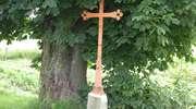 Przydrożny krzyż w Paluzach