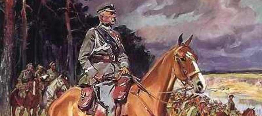 Wojciech Kossak, marszałek Piłsudski na kasztance