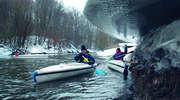 Zimowe spływy na Mazurach