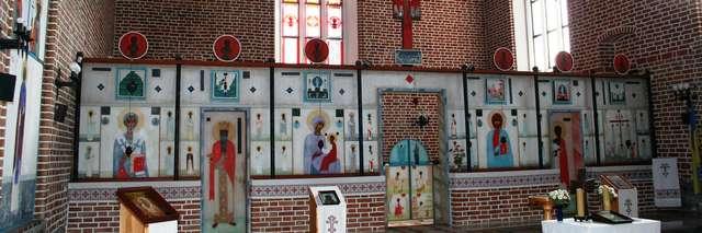 Górowo Iławeckie: cerkiew Podwyższenia Krzyża Świętego - full image