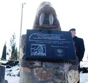 Pomnik morsa w Bisztynku