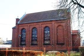 Cerkiew prawosławna w bylej synagodze w Mrągowie