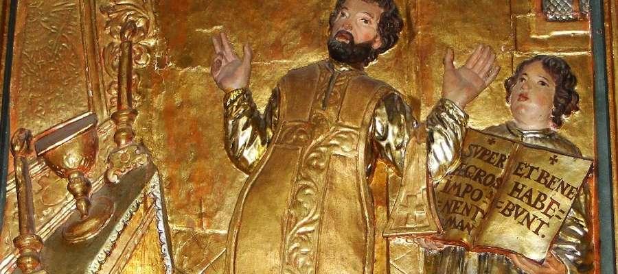 Wizerunek św. Walentego z ołtarza w Nowym Mieście