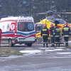 Wypadek na DK 51. Ciężarna kobieta przetransportowana helikopterem