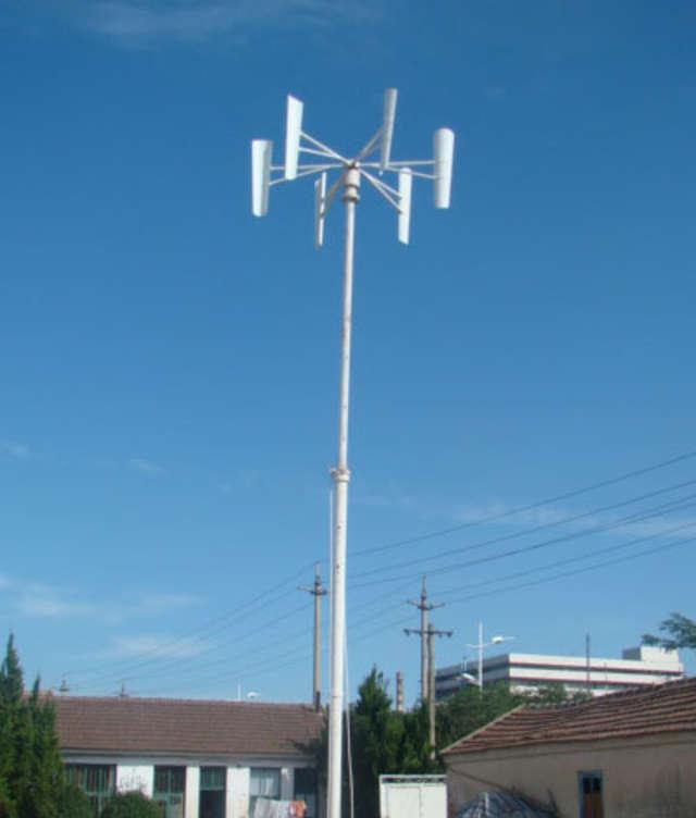 Turbina wiatrowa o osi pionowej to wydajny generator energii dla domu jednorodzinnego, nawet w niezbyt wietrznych rejonach - full image