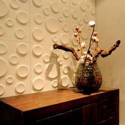 Trójwymiarowe panele możemy montować w dowolnych kombinacjach, dopasowując je do reszty wystroju pomieszczenia