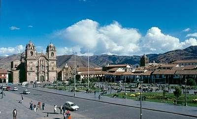 Cuzco - Plaza de Armas, centralny plac miasta