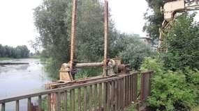 Zwodzony most w Szopach