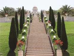 Przykryta złotą kopułą Mauzoleum Baba w Hajfie jest główną świątynią bahaizmu