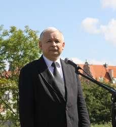 Jarosław Kaczyński podczas ostatniej wizyty w Elblągu