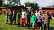 Pozdrowienia z obozu harcerskiego znad jeziora Mamry