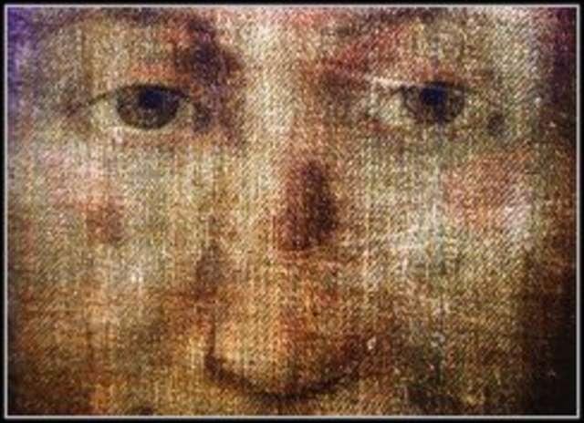 Wizerunek Chrystusa z chusty z Manoppello. Jest identyczny z tym, który można zobaczyć na całunie z Turynu.  - full image