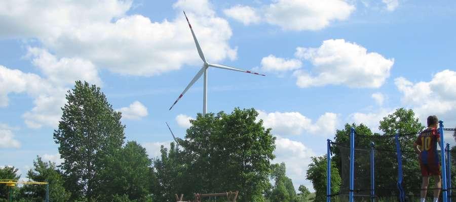 Jeden z wiatraków w Kraskowie w gminie Korsze.