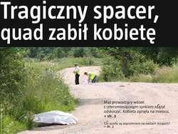 """Tak po tragedii wyglądała pierwsza strona """"Gazety Olsztyńskiej""""."""