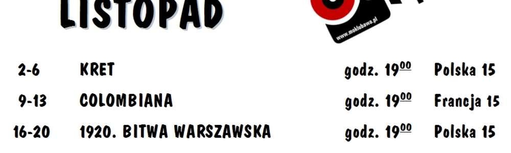 Repertuar kina Pokój w Lubawie - listopad