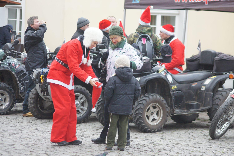 Motomikołaje na olsztyńskiej starówce