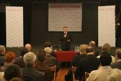 Jacek Kurski na spotkaniu w Elblągu
