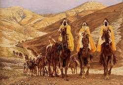 Obraz przedstawiający podróż Trzech Mędrców do Betlejem.