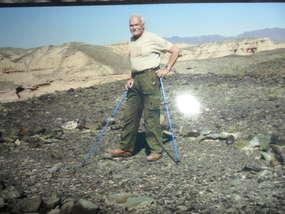 Znów po latach na pustyni Gobi - w miejscu, gdzie stał jego namiot