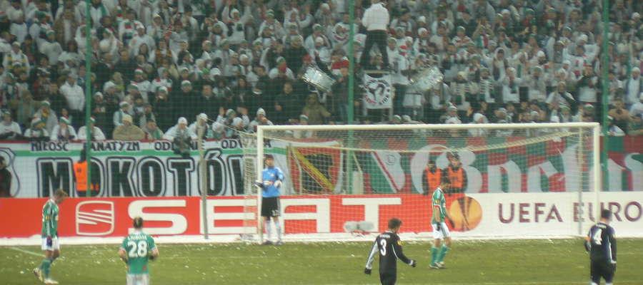 Mecz Legii Warszawa na Stadionie Wojska Polskiego