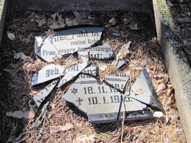 Jeglin: cmentarz ewangelicki i kwatera wojenna z I wojny swiatowej - full image