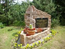 Cmentarz prawosławny przy ul. Terebelskiej w Białej Podlaskiej. Pomnik poświęcony ofiarom Akcji Wisła.