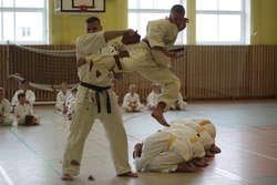 Najciekawszym elementem spotkania były pokazy karateków