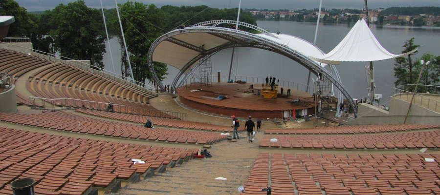 Mrągowski amfiteatr oddano do użytku w 2012 roku. W tym roku przejdzie on szereg gruntownych zmian i poprawek.