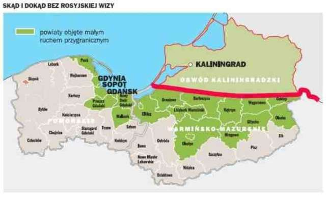 Mieszkańcy tych obszarów skorzystają z przepisów umowy o małym ruchu granicznym.