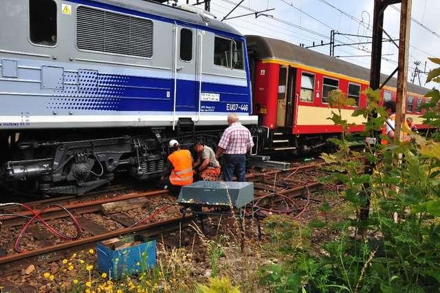W środę doszło do pierwszego wykolejenia się pociągu w Iławie. - full image