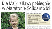 Dla Majki z Iławy pobiegnie w Maratonie Solidarności