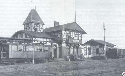 Dworzec Kolei Nadzalewowej w Tolkmicku - przed 1945 r.