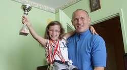 Lidia z tatą