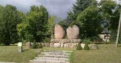 Pomnik poległych mieszkańców w Rogóżu koło Lidzbarka Warmińskiego