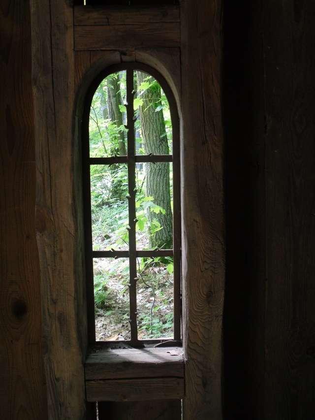 Widok z okna domu Katarzyny Enerlich pod Mrągowem - full image