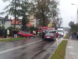 Pięć osób trafiło do szpitala. Wypadek drogowy w Działdowie