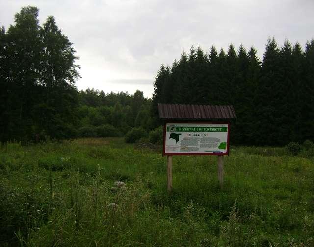 Tablica informacyjna rezerwatu Sołtysek - full image