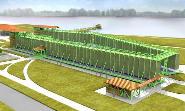 Tak już wkrótce wyglądać będzie uzdrowisko w Gołdapi. Na pierwszym planie tężnie solankowe - full image