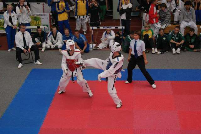 Damian w pierwszym pojedynku pokonał reprezentanta Białorusi - full image