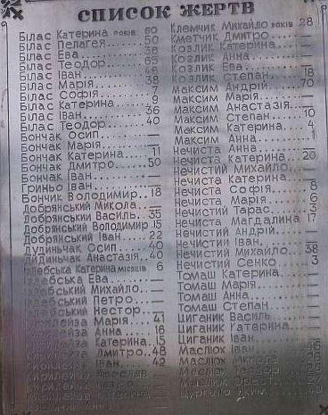 Komunistyczne zbrodnie: Zawadka Morochowska 25.01.1946 - full image