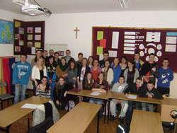 Zagraniczni studenci z wizytą u gmazjalistów w Jezioranach