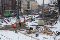 Część prac przy drodze nr 503 została wstrzymana z powodu badań archeologicznych