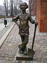 Pomnik dzielnego piekarczyka, który uratował Elbląg przed Krzyżakami