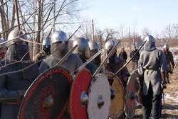 Wojowie ćwiczyli walki i szyki przygotowując się do nowego sezonu