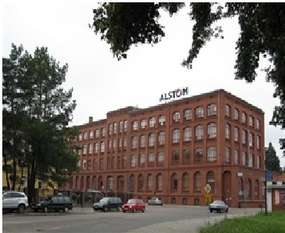 Zabytkowy budynek biurowca Alstom Power w Elblągu
